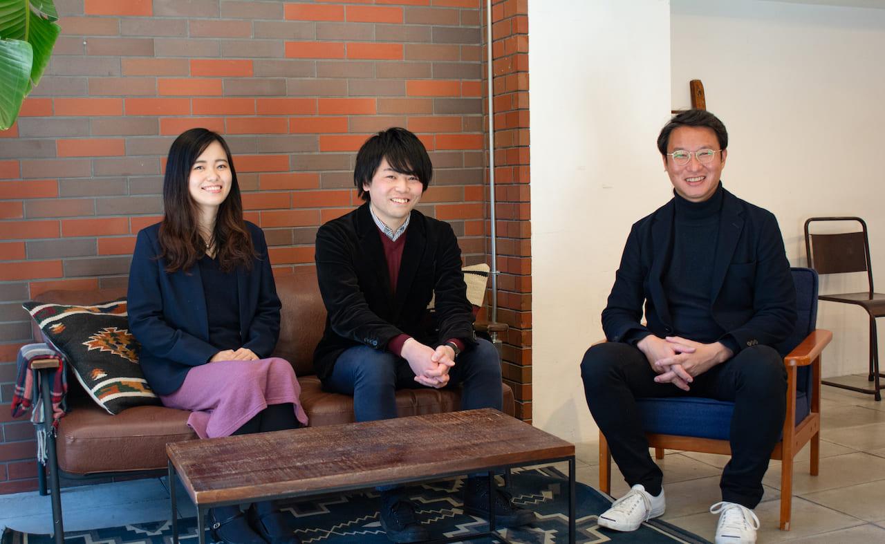 お話を伺った本宮さん、秋山さんと佐藤岳